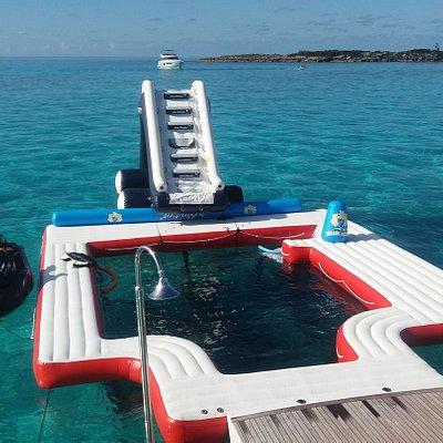 M/Y Impulsive - Pool time at Rose Island!
