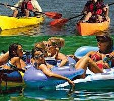 kayaking and tubing broad river