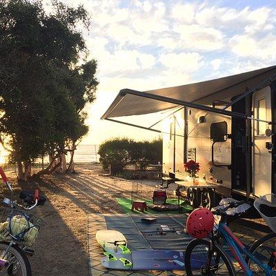 Campsite oceanfront
