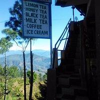 Tea stall beside shawl kausani factory