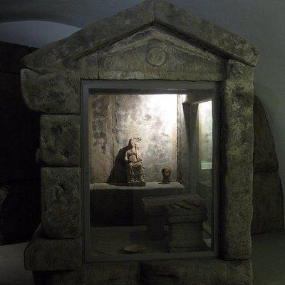 ricostruzione al museo Albornoz