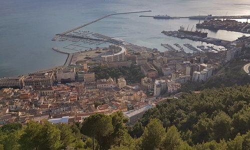 Salerno vista dall'alto (castello di Arechi)