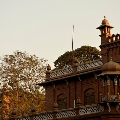 Detail of Curzon Hall - historic building in Dhaka University