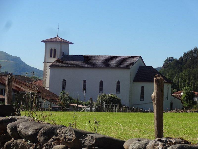 Église Saint-Vincent-de-Dax, Saint-Michel (Pyrénées-Atlantiques, Nouvelle-Aquitaine), France.