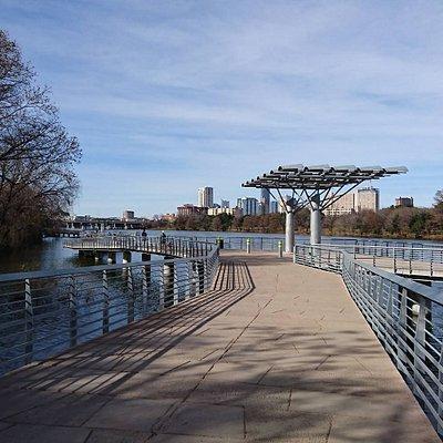 View on wallboard pier