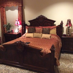 """The Balmoral room was where we slept. It does have an attached """"split"""" bath and walk-in closet."""