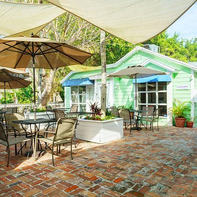 The courtyard at the Shops of Olde Marco.  Come sit for a while!