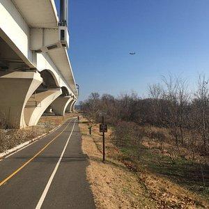 walking trail along interstate