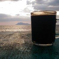 Pantai Ria - ngopi senja hari