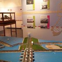 Tentoonstelling over de Afsluitdijk.