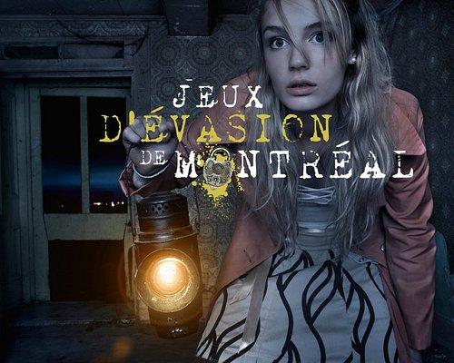 Jeux d'Evasion de Montreal / Montreal Escape Games LOGO with background