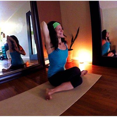 Yoga studio with owner Lisa Julian