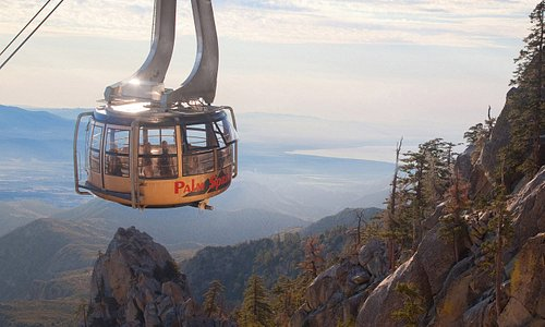 Palm Springs Aerial Tramway with view of the Salton Sea