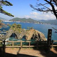 穴通磯:展望台からの景色