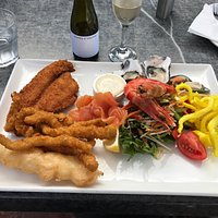 Bark Mill Seafood Platter - a satisfying dish if you want variety. Could go easy on the batter/c