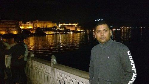 My friend at Manji Raj ka Ghat