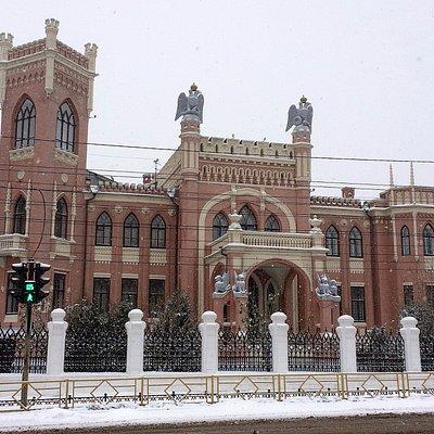 особняк Булычева, спроектирован архитектором Чарушиным, построен в 1911г.