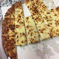 Cheesy Bread & Pizza were both delicious!