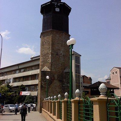 Clock tower in Gostivar, Macedonia