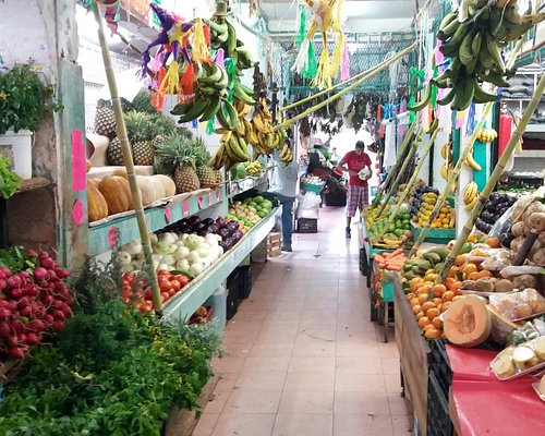 Traditional Mexicn Food Market in Cancun