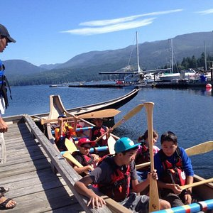 Our sea-going canoes are great for teams and group events.