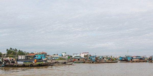 Chau Doc floating market.