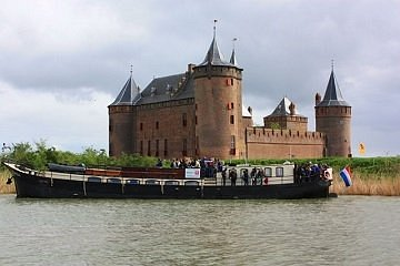 our historical boats serve as ferry to the Medieval Amsterdam Castle Muiderslot and Fortress Pam