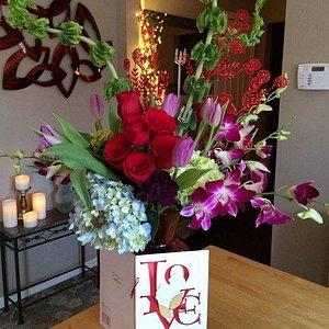 Valentines Event Flowers