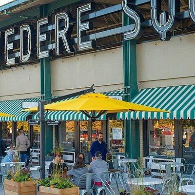 Belvedere Square Market in the Spring