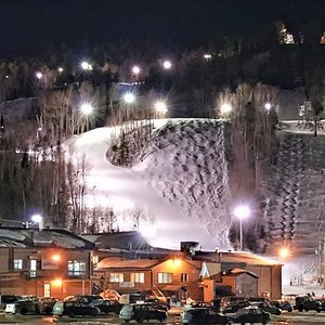 Ski de soirée à Val-Saint-Côme