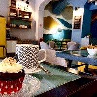 cupcake e capuccino