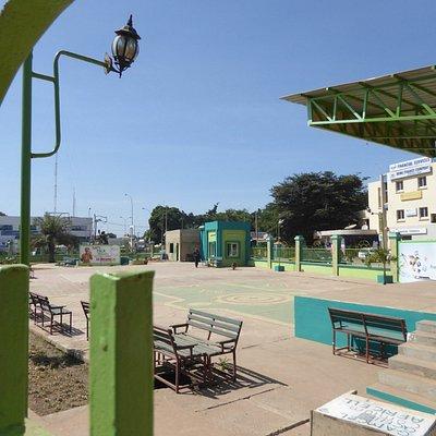 モニュメントがある公園