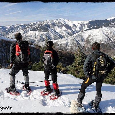 Excursión con raquetas de nieve en La Sierra De La Demanda.
