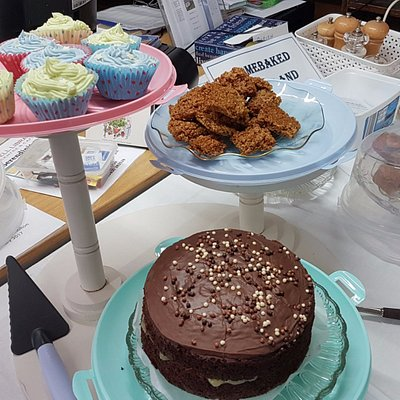 Cakes and treats at the Library Cafe