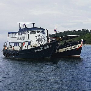 Our beautiful dive boats - 26m & 17m