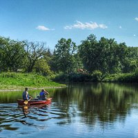 Canoeing on Moose Jaw River in Wakamow Valley