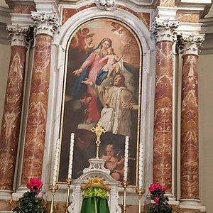 Altar Maggiore - La pala con San Giacomo