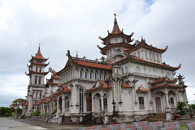 Back side of Giao Phong cathedral, Nam Dinh