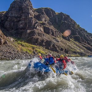 Whitewater Action (East Glacial River) - canyon on the sunny day