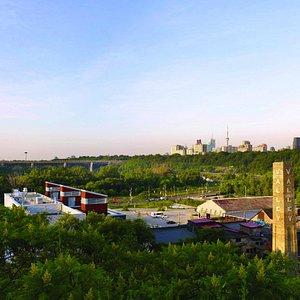Panoramic view of Evergreen Brick Works