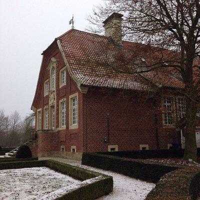 Haus Rüschhaus winter wonderland.