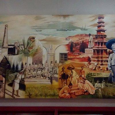 Una pintura que trata de reflejar el trabajo al que se dedicaban los coreanos en Yucatán.