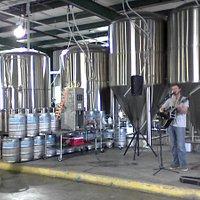 A local musician entertains at Gnarly Barley
