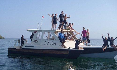 El Tri, our dive boat.