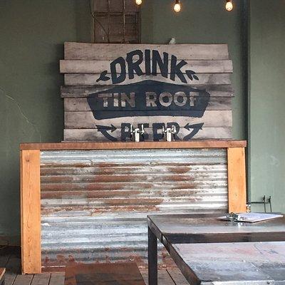 Tin Roof brewing outdoor bar
