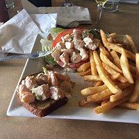 Shrimp salad sandwich