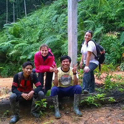 rest after done the trekking in area of wehea forest