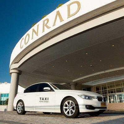 La parada de taxis del Hotel y Casino Conrad