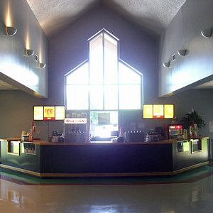 lobby and concession stand - fresh popped popcorn!