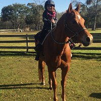 My daughter Samantha riding for the first time!